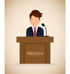Presidents icon design vector image