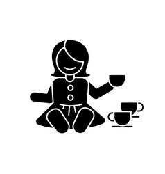 pretend kitchenware black glyph icon vector image