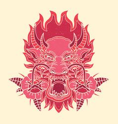 Printvintage dragon tattoo design vector