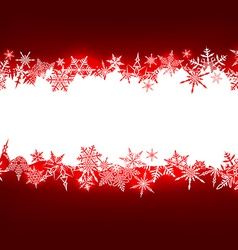 Red christmas background with white copyspace vector image