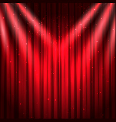 red stage curtain background vector image