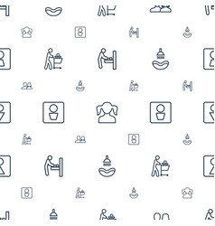Restroom icons pattern seamless white background vector