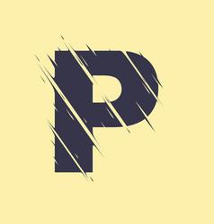 scribbled letter p vector image