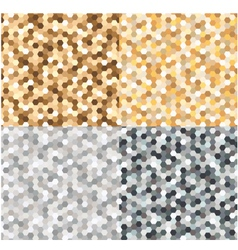 seamless gold silver metallic background vector image