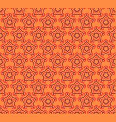Seamless pattern decorative symmetries ornament vector