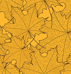 Seamless pattern of maple leaves vector