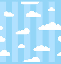 Seamless square pattern with clouds and lines vector