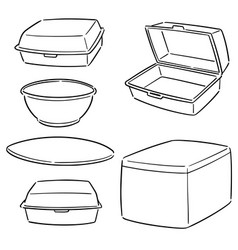 Set foam container vector