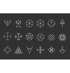 Set of geometric hipster shapes13 vector