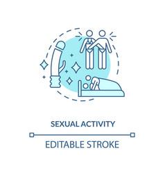 Sexual activity concept icon vector