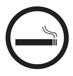 smoke area icon on white background flat style vector image