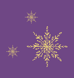 Snowflake icon sign design red background vector