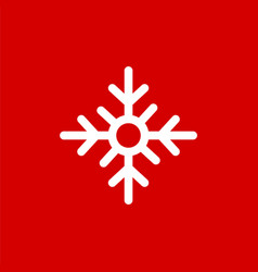 snowflake simple style flat icon vector image