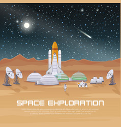 Space exploration flat composition vector