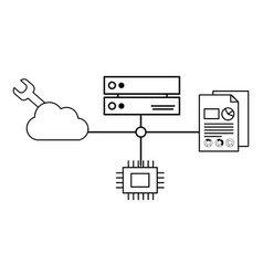 technology cpu cartoon vector image