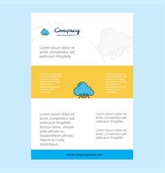 template layout for cloud circuit comany profile vector image