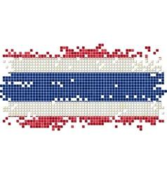 Thailand grunge tile flag vector