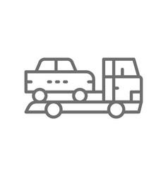 tow truck car evacuation line icon vector image