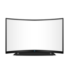 TV with Curved Screen vector