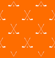 two crossed golf clubs and ball pattern seamless vector image