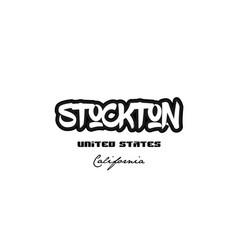 United states stockton california city graffitti vector