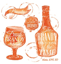 Watercolor Brandy vector