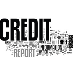 Which credit bureau should i use to check my vector