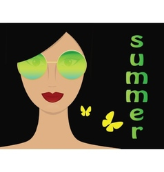 Woman in summer vector