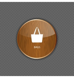 Bags wood application icons vector image vector image