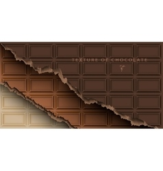 chocolate bar with broken ends vector image