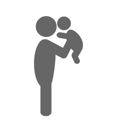 Father and baby pictogram flat icon isolated on vector image vector image