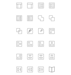 Line icons 3 vector image vector image