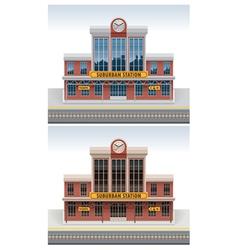 railway station icon vector image vector image