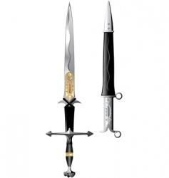 sword rose vector image vector image