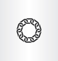 black chain link circle icon symbol vector image