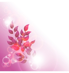 branch with red leaves vector image