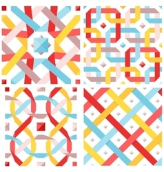 Chic seamless pattern vector image