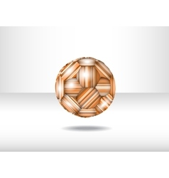 Isolated abstract soccer ball vector image vector image