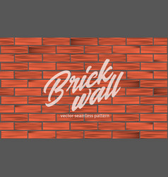 Red brick wall texture seamless pattern vector