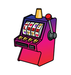 slot machine isolated on white vector image vector image