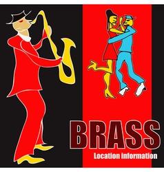 brass dance vector image vector image