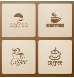 coffee elements for design vector image vector image