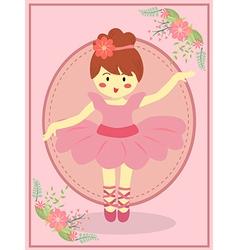 Cute Pink Ballerina Girl vector image