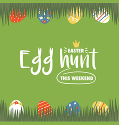 Easter hunt card vector