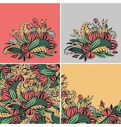 fancy flowers vector image vector image