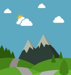 Nature Flat Design vector image vector image