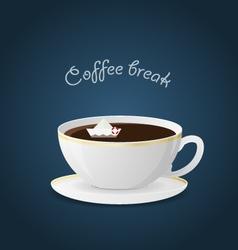 offee break Ceramic cup Hot beverage vector image
