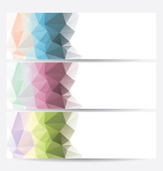 set of abstract geometric banners vector image vector image
