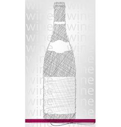 wine bottle poster vector image vector image