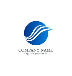 wing wave logo design vector image